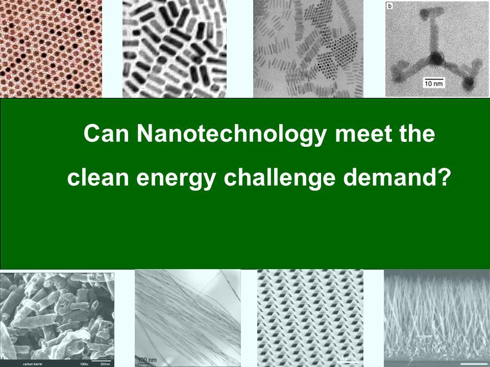 Can Nanotechnology meet the clean energy challenge demand?
