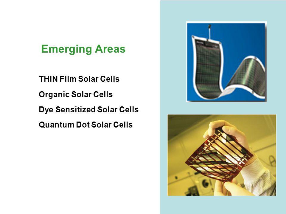 THIN Film Solar Cells Organic Solar Cells Dye Sensitized Solar Cells Quantum Dot Solar Cells Emerging Areas