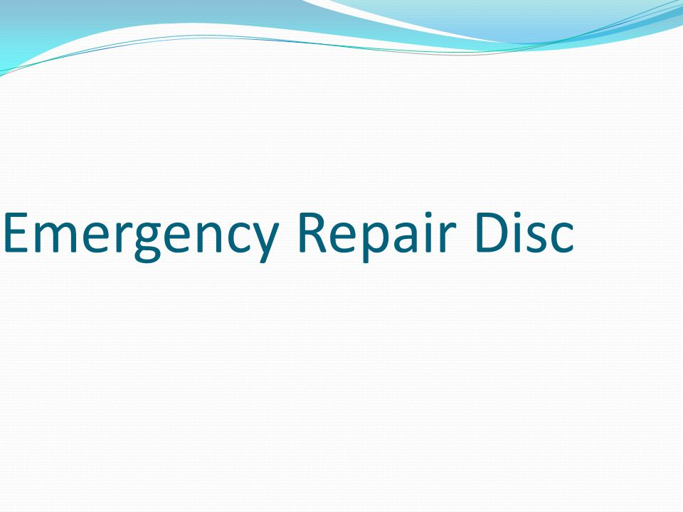 Emergency Repair Disc