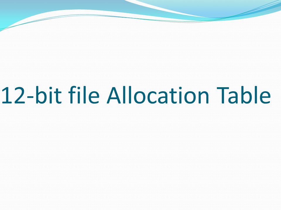 12-bit file Allocation Table