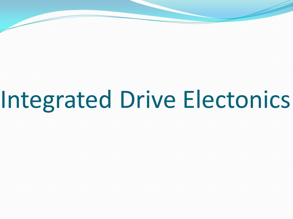 Integrated Drive Electonics