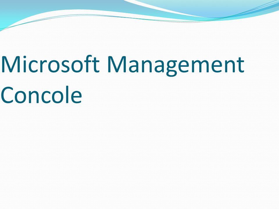 Microsoft Management Concole