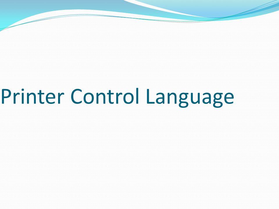 Printer Control Language