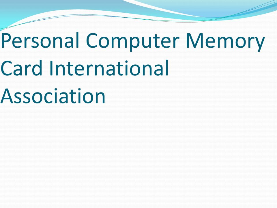 Personal Computer Memory Card International Association