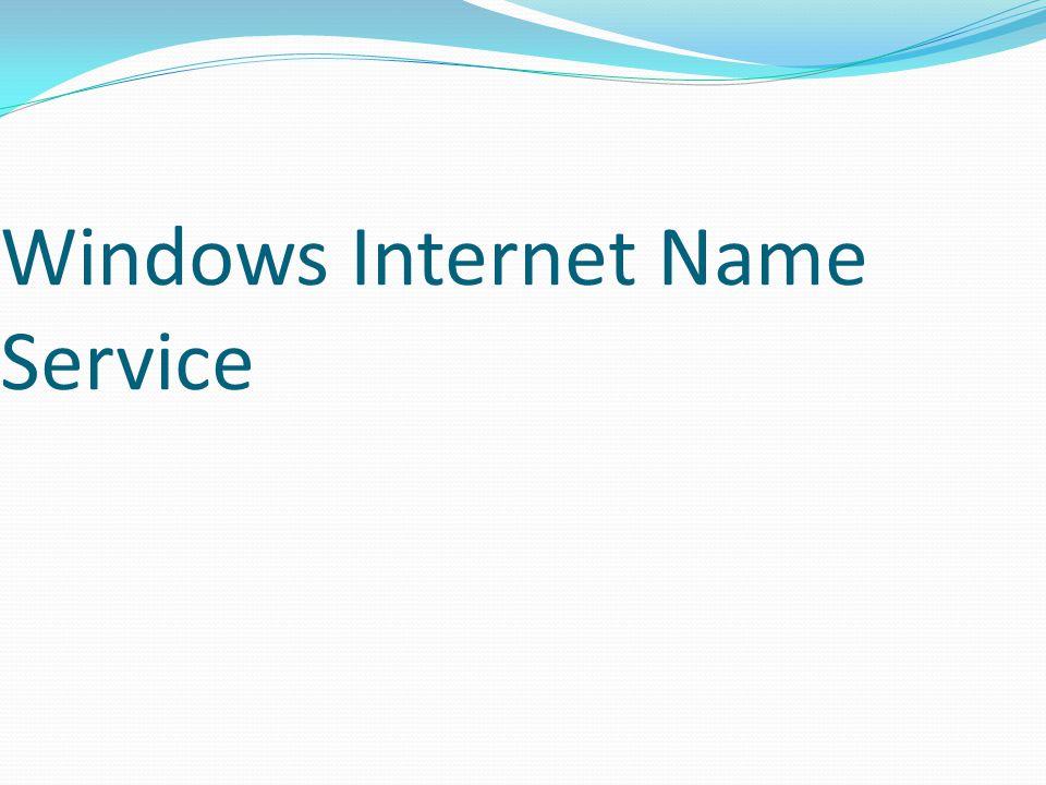 Windows Internet Name Service
