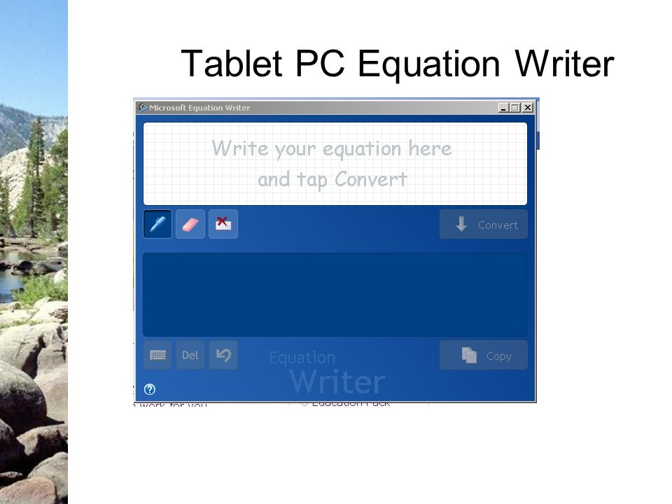 Tablet PC Equation Writer