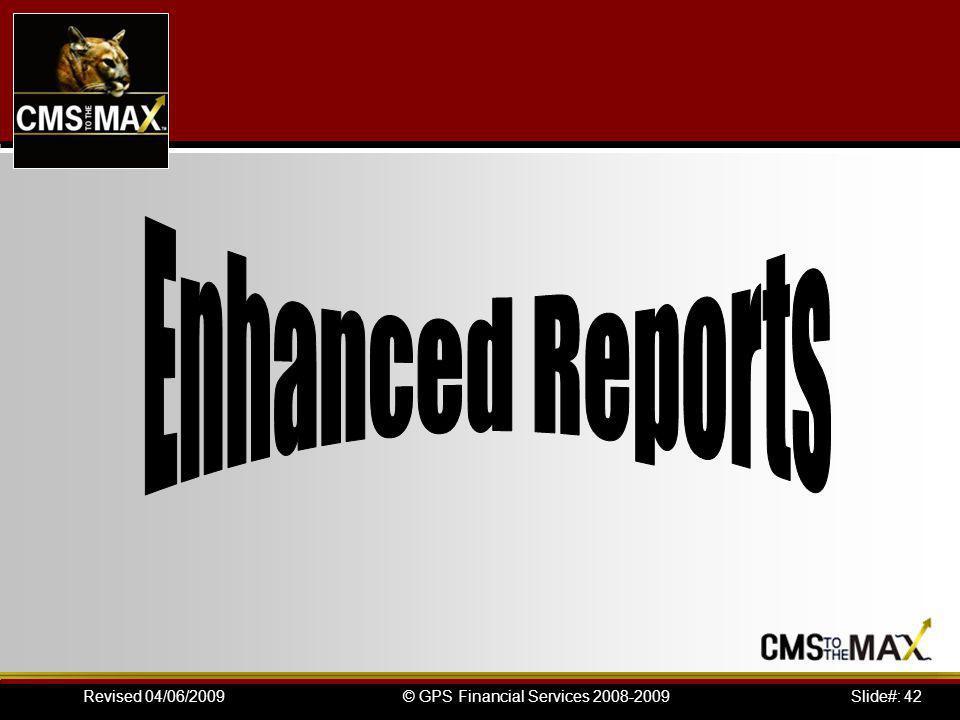 Slide#: 42© GPS Financial Services 2008-2009Revised 04/06/2009