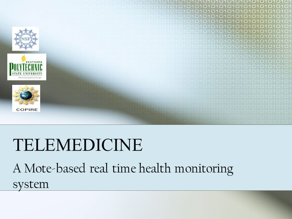 TELEMEDICINE A Mote-based real time health monitoring system