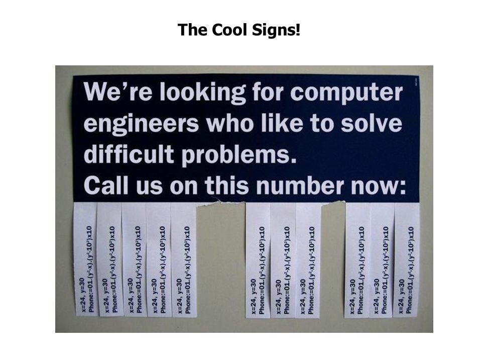 The Cool Signs!