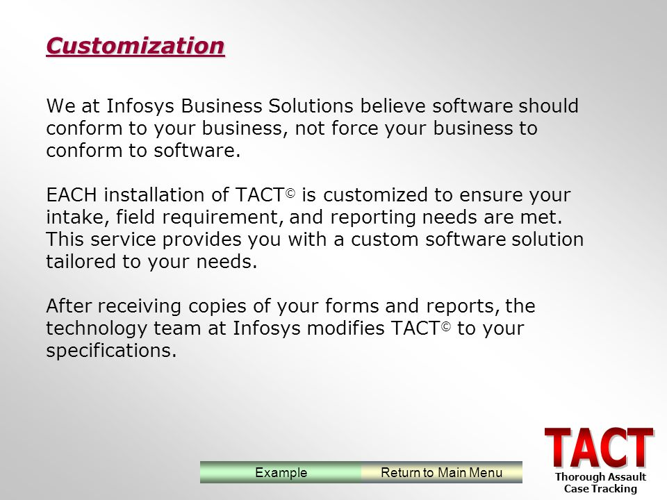 We at Infosys Business Solutions believe software should conform to your business, not force your business to conform to software.