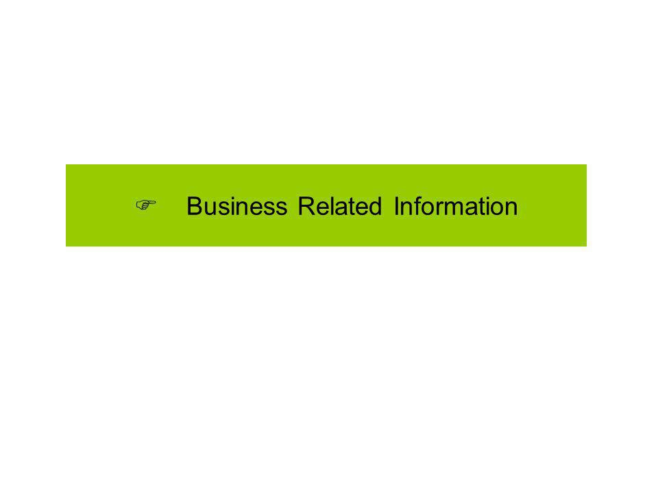 Business Related Information