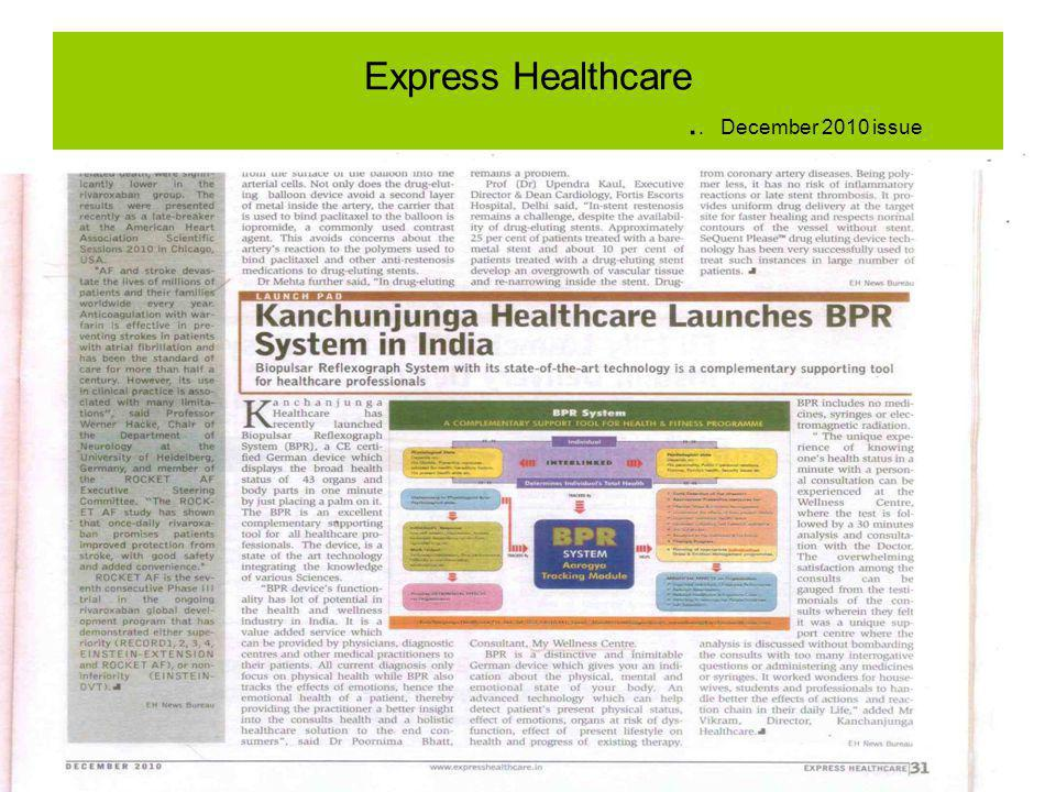 Express Healthcare.. December 2010 issue