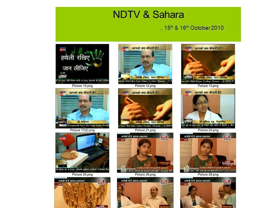 NDTV & Sahara.. 15 th & 16 th October 2010