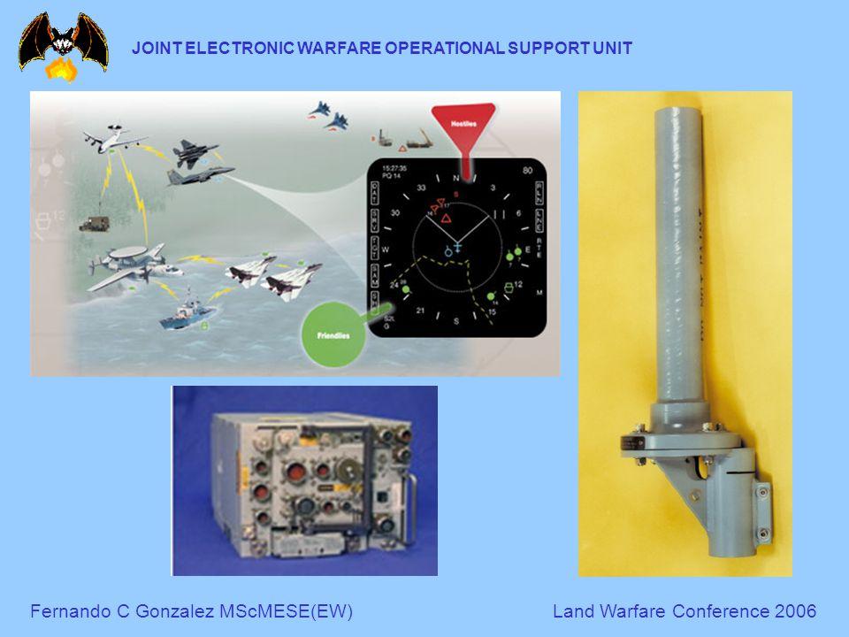 Fernando C Gonzalez MScMESE(EW)Land Warfare Conference 2006 JOINT ELECTRONIC WARFARE OPERATIONAL SUPPORT UNIT