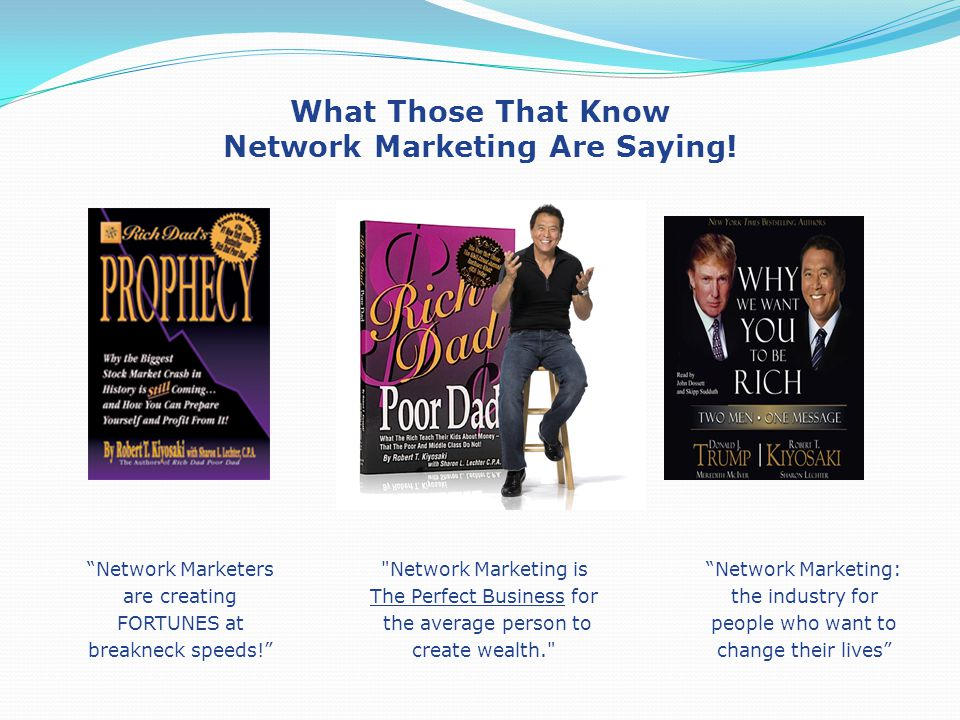 What Those That Know Network Marketing Are Saying! Network Marketers are creating FORTUNES at breakneck speeds!