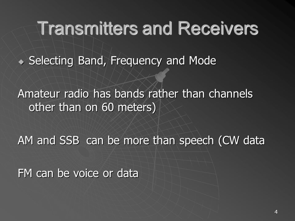 55 RADIO FREQUENCY INTERFERENCE (RFI) Getting more common place Getting more common place Can be amateur radio interfering with other devices Can be amateur radio interfering with other devices OR OR Other devices interfering with amateur radio operation Other devices interfering with amateur radio operation