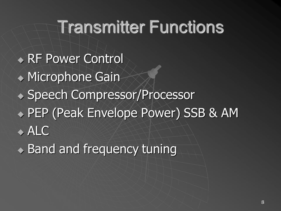 59 Harmonics & Spurious Emissions Low Pass Filters on Transmitter Low Pass Filters on Transmitter Can be in-band interference and cannot be filtered out at receiver Can be in-band interference and cannot be filtered out at receiver