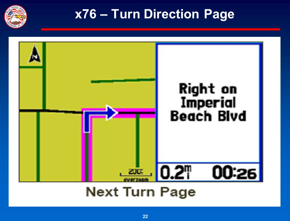 22 x76 – Turn Direction Page