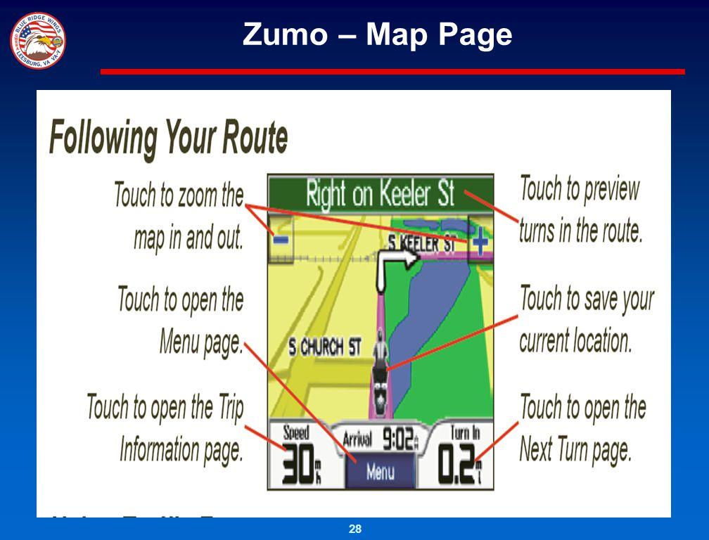 28 Zumo – Map Page