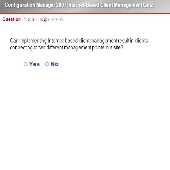 Can implementing Internet-based client management result in clients connecting to two different management points in a site.
