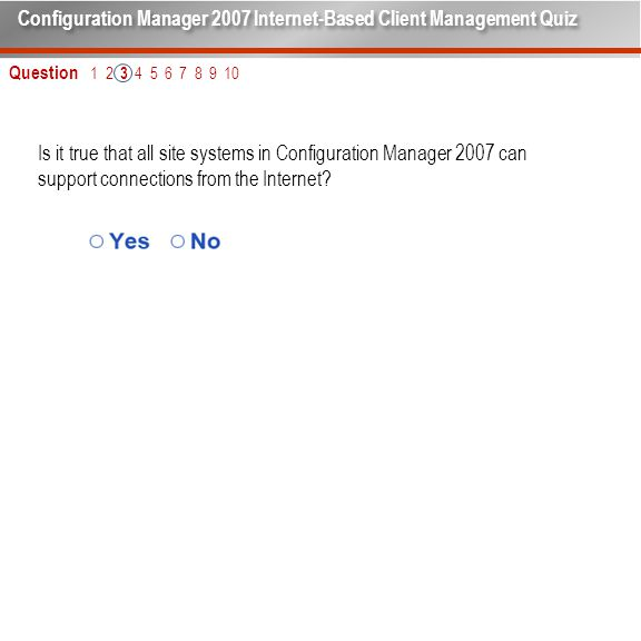 Is it true that all site systems in Configuration Manager 2007 can support connections from the Internet.