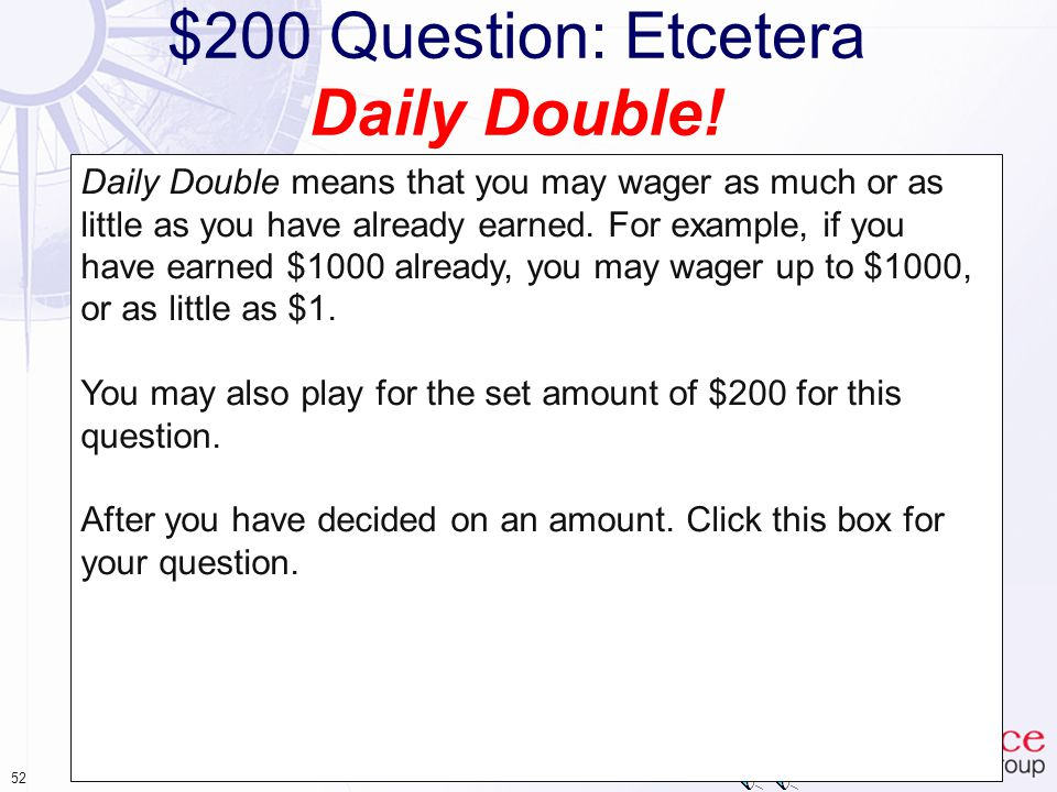 51 $100 Answer: Etcetera The scope of our security measures must be reviewed: 5) Annually Your answer is correct.