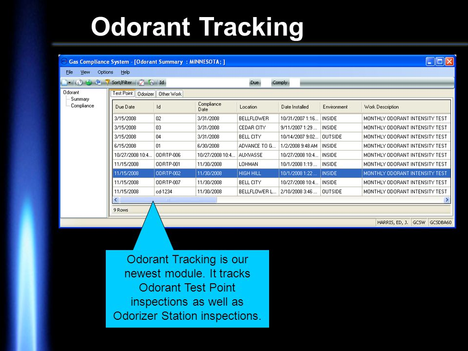 Odorant Tracking Odorant Tracking is our newest module.
