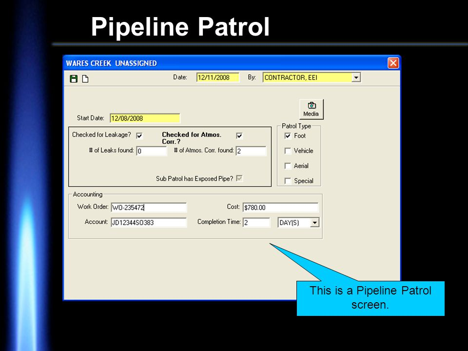 Pipeline Patrol This is a Pipeline Patrol screen.