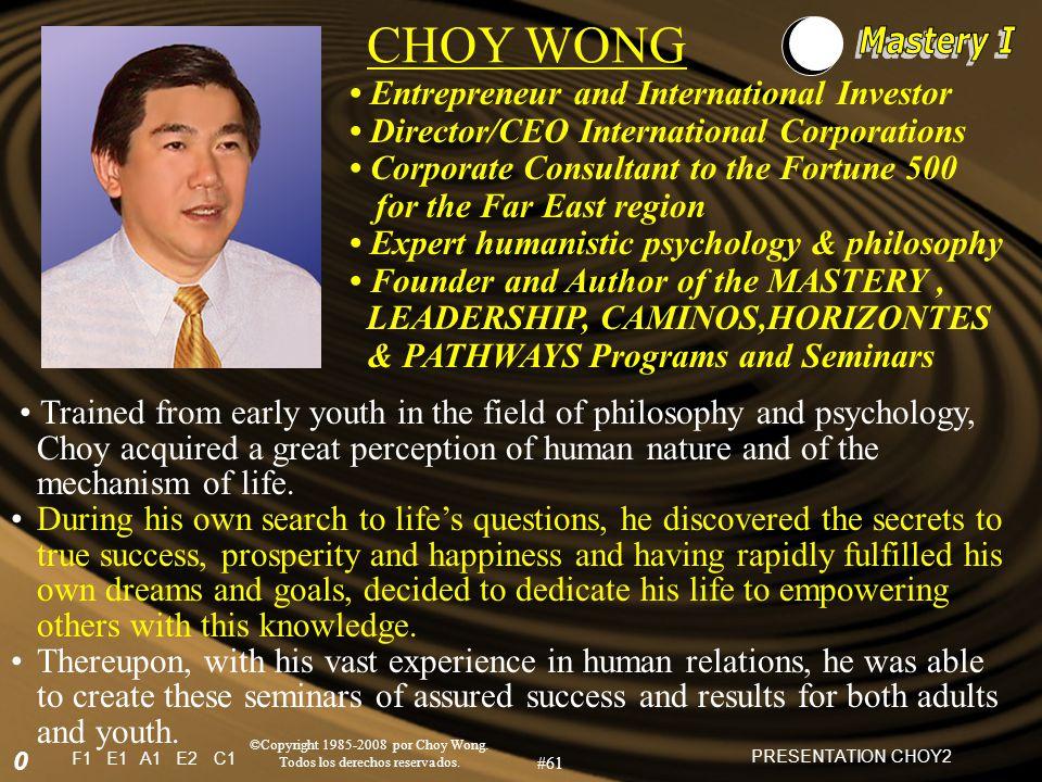 F1E1A1E2C1 ©Copyright 1985-2008 por Choy Wong. Todos los derechos reservados.