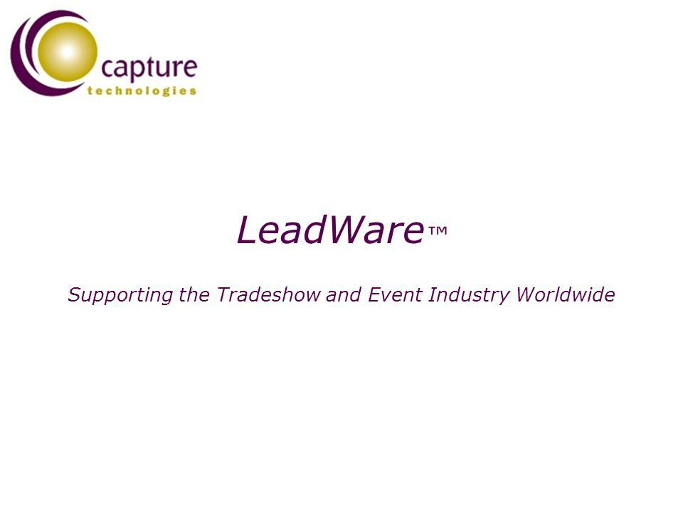 LeadWare Supporting the Tradeshow and Event Industry Worldwide