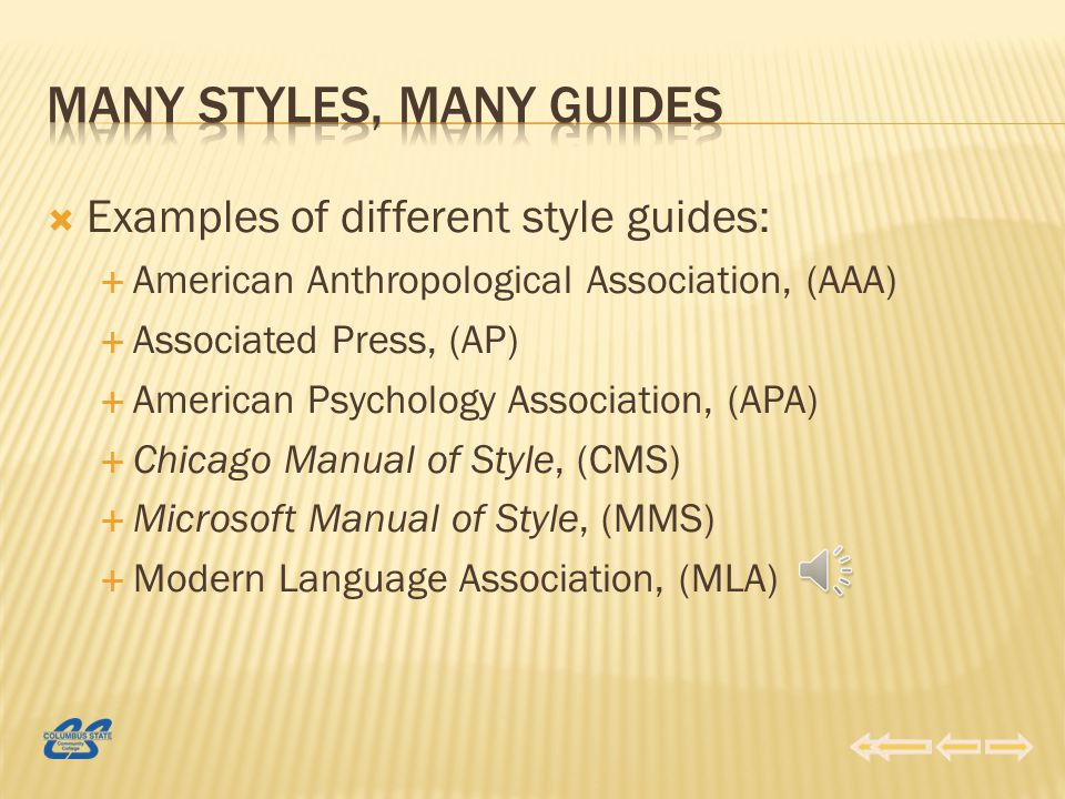 There are many different style guides.