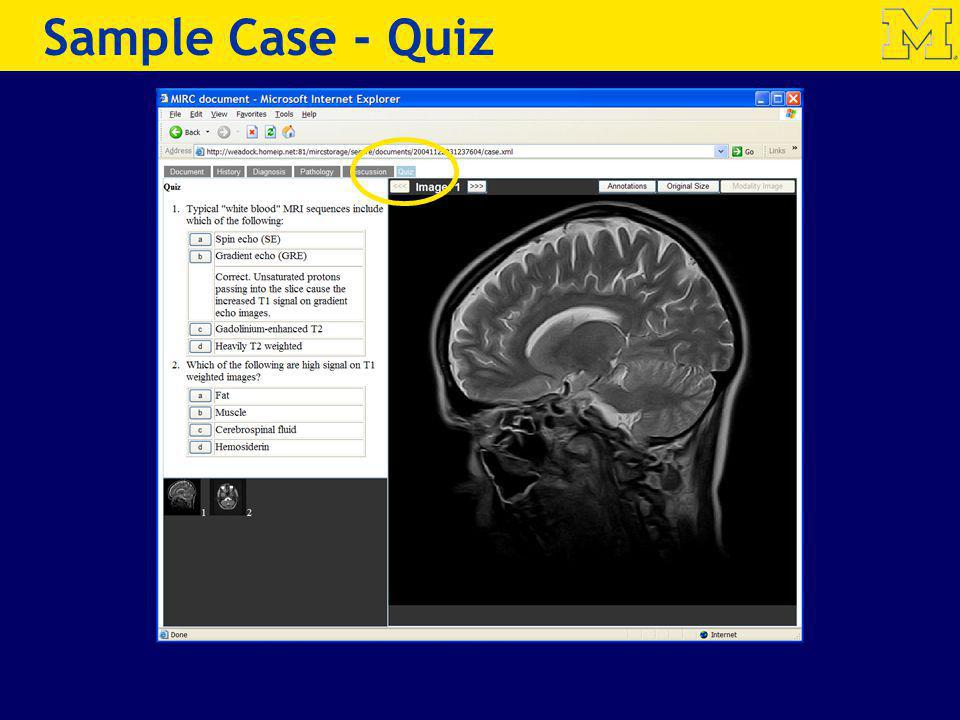 Sample Case - Quiz