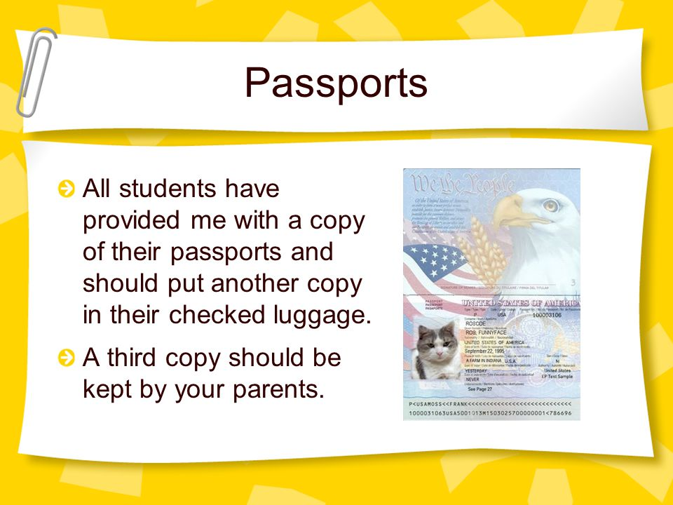 Passports Your passport is the only proof you have of your valuable American citizenship.