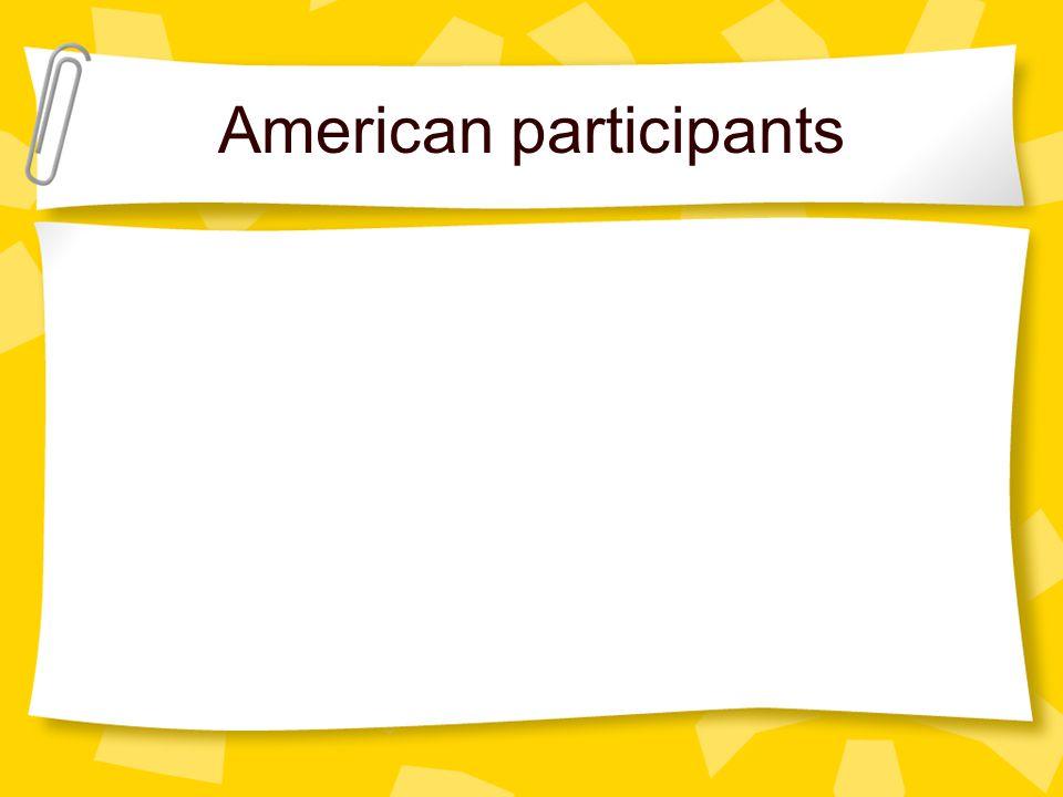 American participants
