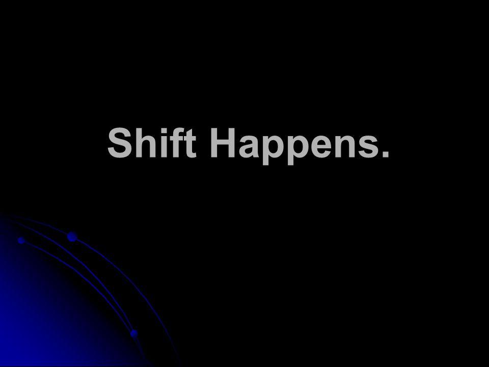 Shift Happens.