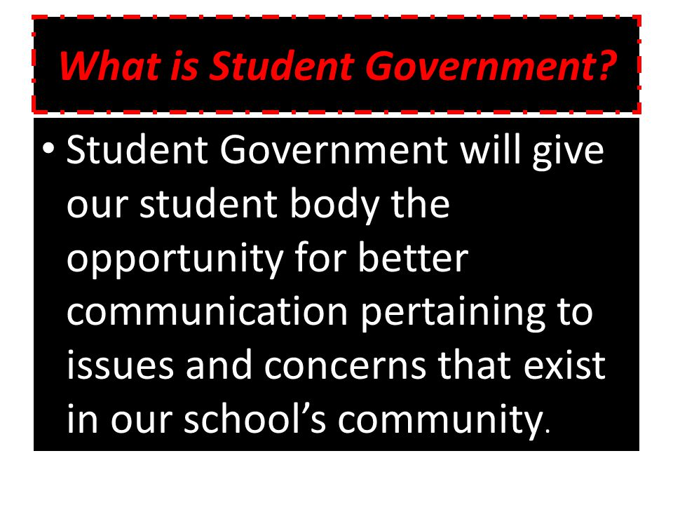 What is Student Government.
