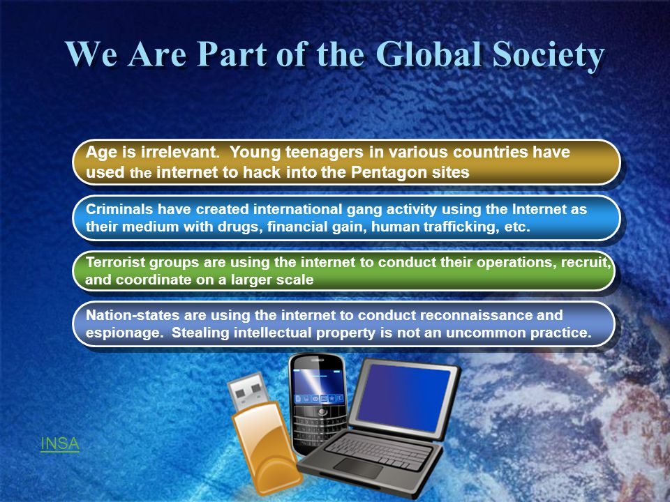 We Are Part of the Global Society Age is irrelevant.