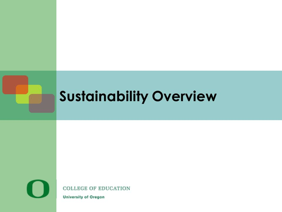 Sustainability Overview