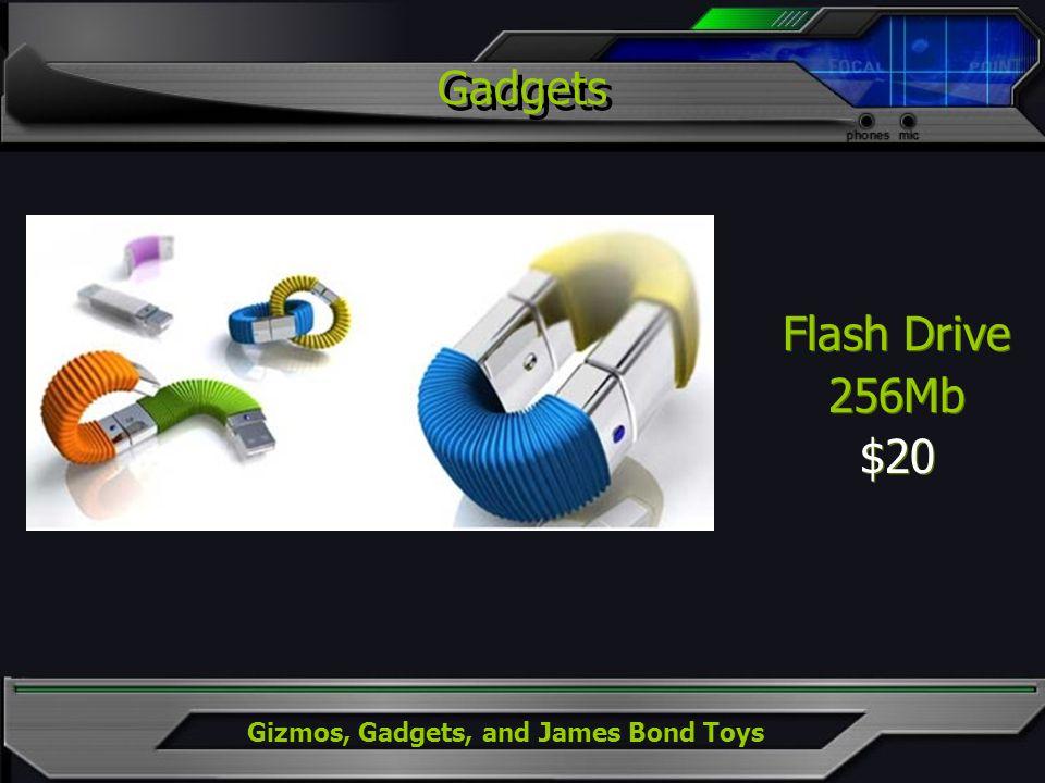 Gizmos, Gadgets, and James Bond Toys Flash Drive 256Mb $20 Flash Drive 256Mb $20 Gadgets