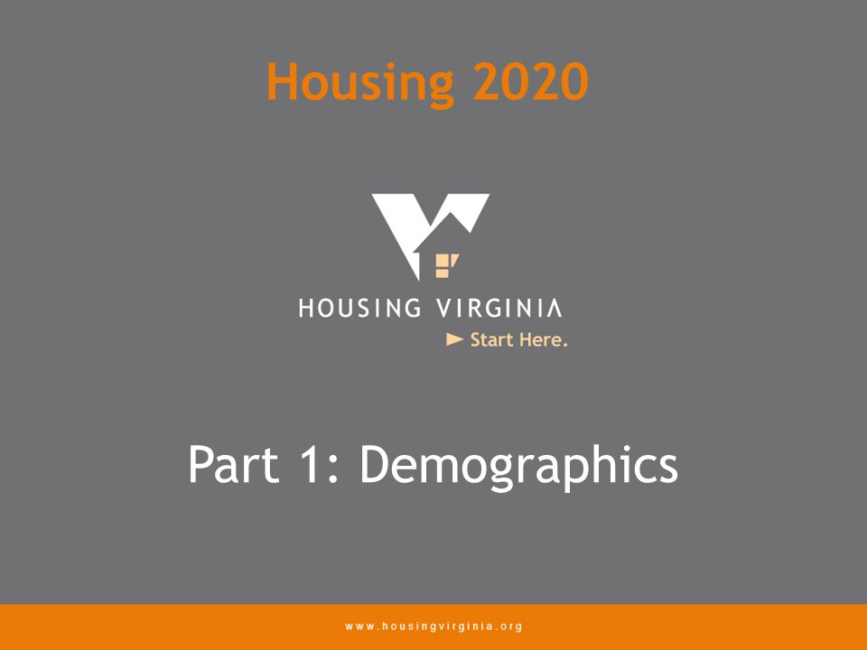 Part 1: Demographics Housing 2020