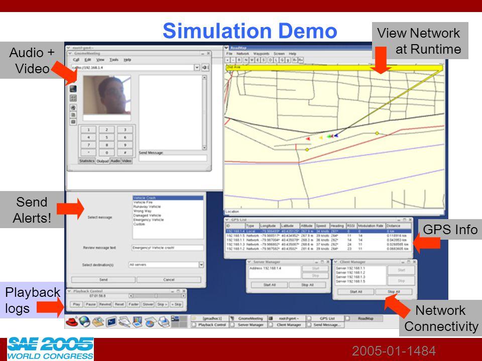 2005-01-1484 Simulation Demo Audio + Video Send Alerts.