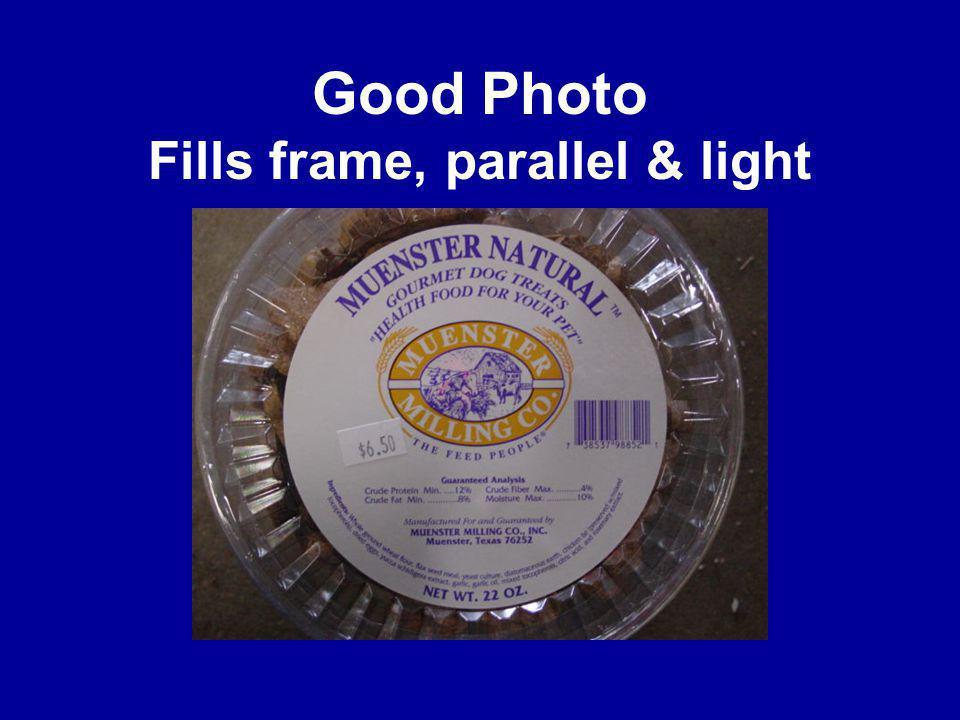 Good Photo Fills frame, parallel & light