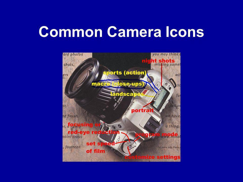Common Camera Icons