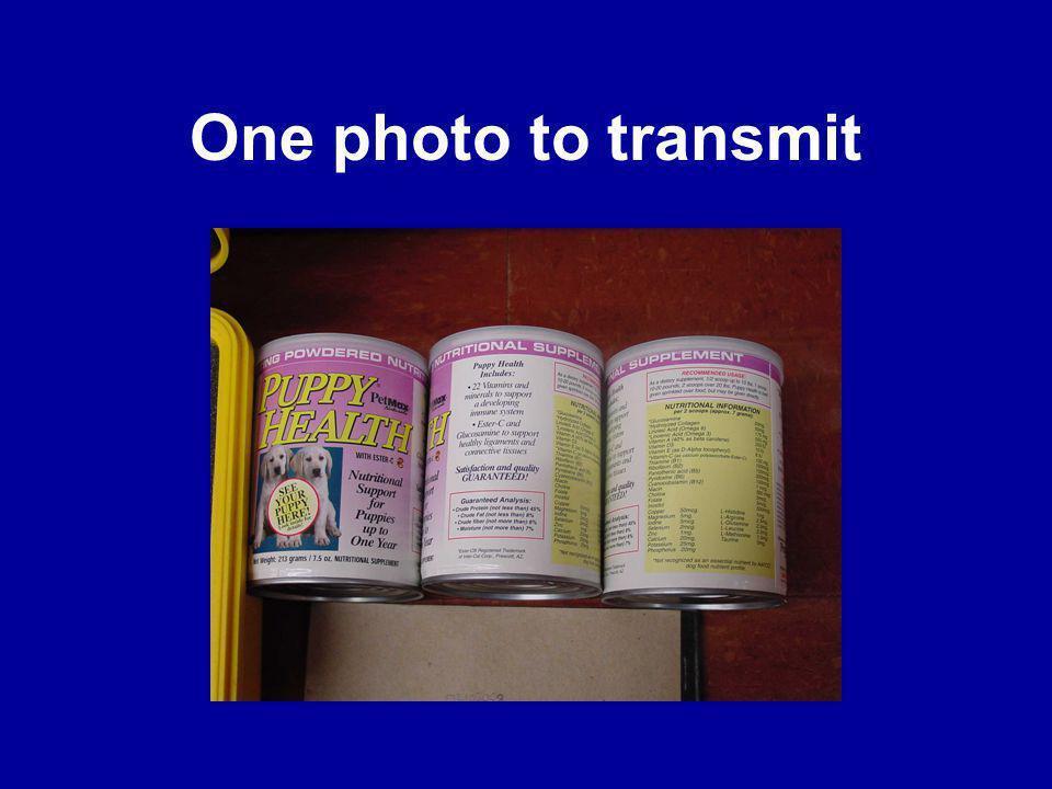 One photo to transmit