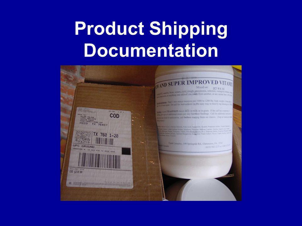 Product Shipping Documentation
