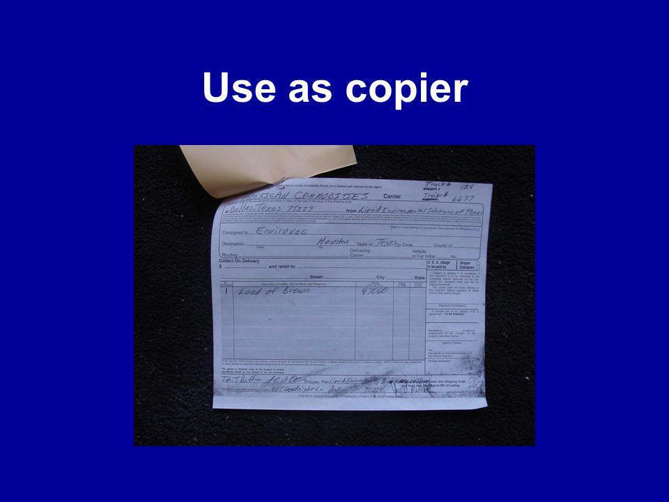 Use as copier