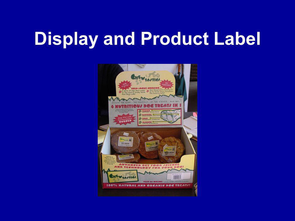 Display and Product Label
