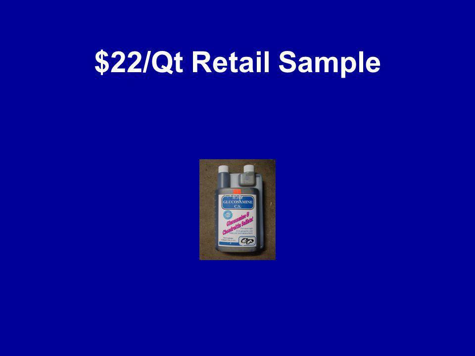$22/Qt Retail Sample