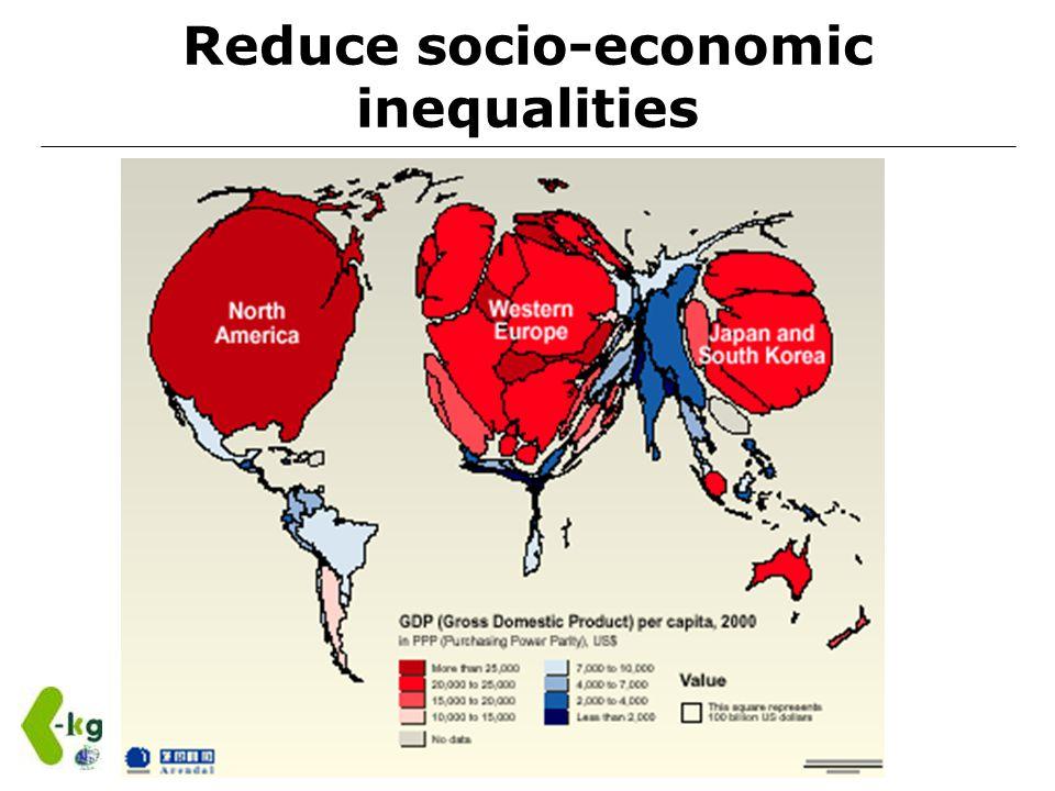 Reduce socio-economic inequalities