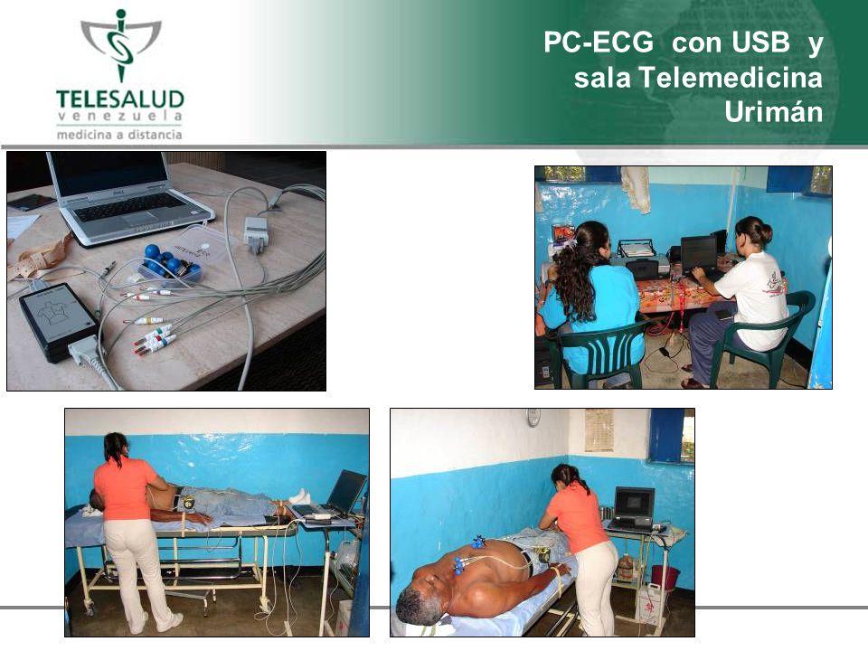 PC-ECG con USB y sala Telemedicina Urimán